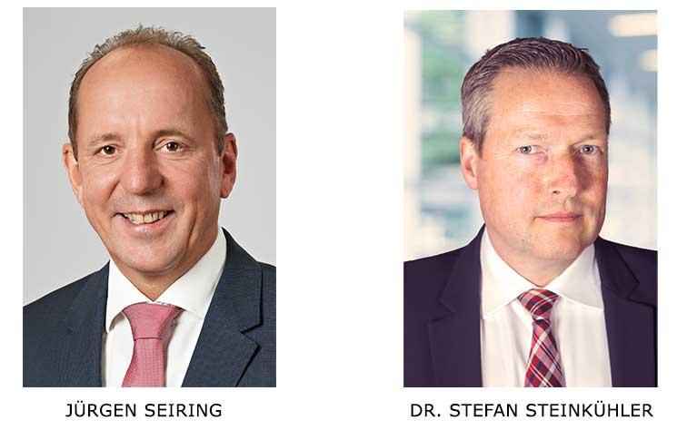 Geschäftsführer Jürgen Seiring und Rechtsanwalt Dr. Stefan Steinkühler